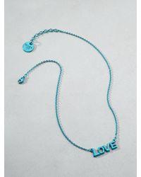 Patrizia Pepe | Blue Junk Jewellery Necklace | Lyst