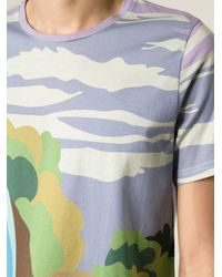 J.W.Anderson | Multicolor Waterfall Landscape Print T-Shirt for Men | Lyst