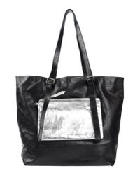 MM6 by Maison Martin Margiela - Black Shoulder Bag - Lyst