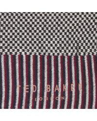 Ted Baker - Red Planman Small Geo Design Socks for Men - Lyst