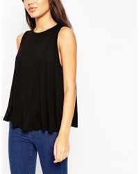 ASOS | Black Swing Vest With Drape 2 Pack Save 10% | Lyst