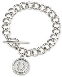 Carolee | Metallic Silver-tone Horseshoe Toggle Charm Bracelet | Lyst