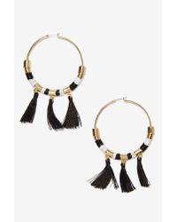 Nasty Gal - Black Marnie Hoop Earrings - Lyst