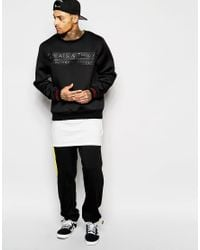 Cheats & Thieves - Black Neoprene Stamp Sweatshirt for Men - Lyst