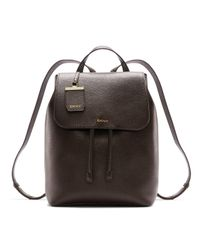 DKNY | Brown Fine Pebble Leather Backpack | Lyst