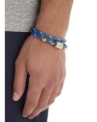 Miansai - Blue Double Wrap Rope Bracelet for Men - Lyst