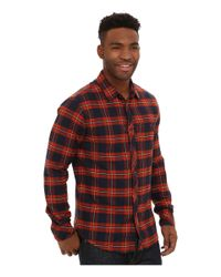 Billabong | Brown Anderson Long Sleeve Button Down Shirt for Men | Lyst