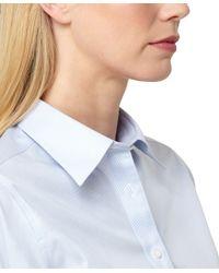 Brooks Brothers - Blue Classic Fit Noniron Stripe Dress Shirt - Lyst