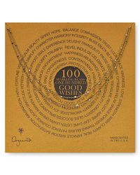 Dogeared - Metallic 100 Good Wishes Tiny Beads Necklace 41 - Lyst