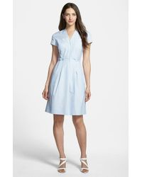 Nordstrom Collection | Blue Pinstripe Shirting Dress | Lyst