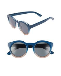 A.J. Morgan | Blue 'hmmm' 49mm Cat Eye Sunglasses | Lyst
