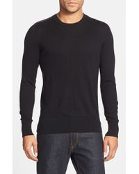 Burberry Brit | Black 'jarvis' Check Print Shoulder Detail Cashmere & Cotton Sweater for Men | Lyst