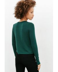 BDG | Blue Long-sleeve Classic Crop Top | Lyst