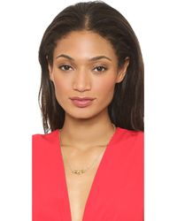 Rebecca Minkoff - Metallic Pyramid Necklace - Gold - Lyst
