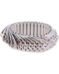 Eddie Borgo - Metallic Silver Hinged Scale Aerator Bracelet - Lyst