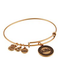 ALEX AND ANI | Metallic Alpha Sigma Alpha Charm Bangle | Lyst
