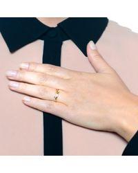 Lulu Frost - Metallic Code 18 Kt Wing Ring - Lyst