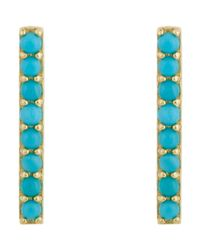Jennifer Meyer | Metallic Long Bar Studs | Lyst