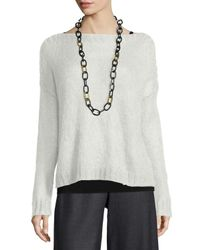 Eileen Fisher - White Airy Mohair Box Top - Lyst