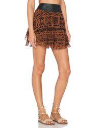 Amuse Society - Brown Preston Mini Skirt - Lyst