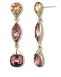 Givenchy - Metallic Goldtone Multicolor Swarovski Crystal Drop Earrings - Lyst