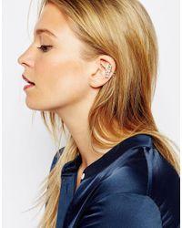 ASOS | Metallic Limited Edition Faux Pearl Bar Ear Cuff | Lyst