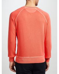 GANT - Orange Sun Bleach Cotton Crew Neck Sweatshirt for Men - Lyst