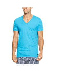 Polo Ralph Lauren | Blue Cotton V-neck T-shirt 3-pack for Men | Lyst