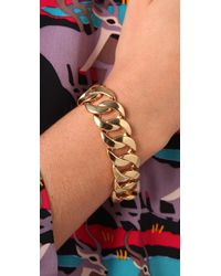 Marc By Marc Jacobs - Metallic Classic Marc Turnlock Katie Bracelet - Lyst