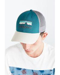 Patagonia - White Line Logo Lo-pro Trucker Hat for Men - Lyst