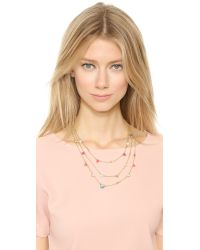 kate spade new york - Multicolor Bashful Blossom Triple Strand Necklace - Multi - Lyst