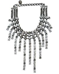 Lanvin | Metallic Crystal Strand Necklace | Lyst