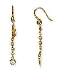Diane von Furstenberg | Metallic Lip Drop Earrings | Lyst