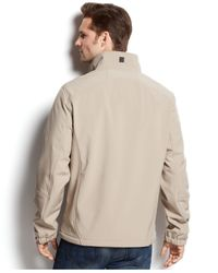 Calvin Klein | Brown Full-zip Softshell Jacket for Men | Lyst