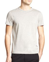 Theory - Gray Andrion Mercerized Cotton Pique Tee for Men - Lyst