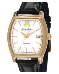Brooks Brothers | Metallic 'core' Automatic Leather Strap Watch for Men | Lyst
