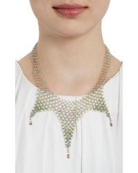 Marie-hélène De Taillac - Metallic Ombre Sapphire Gold Kaleidoscope Necklace - Lyst