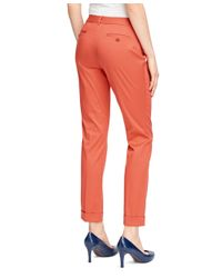 Brooks Brothers - Orange Natalie Fit Cotton Pants - Lyst