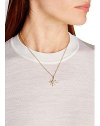 Elizabeth and James   Metallic Compass Pavé Topaz-embellished Necklace   Lyst