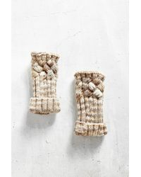 Urban Outfitters | Natural Spacedyed Chunky Cable Fingerless Glove | Lyst