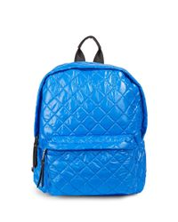 Steve Madden | Blue Quilted Backpack | Lyst