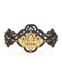 Armenta - Metallic Old World Scroll Bracelet With Diamonds for Men - Lyst