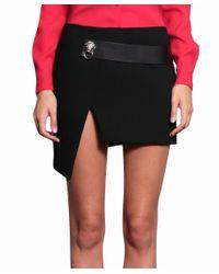 Versus - Black Asymmetric Viscose Skirt - Lyst