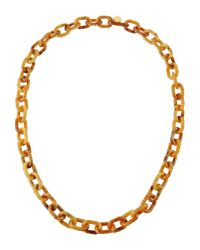 Prada | Yellow Necklace | Lyst