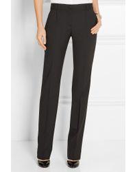 Dolce & Gabbana - - Stretch-wool Straight-leg Pants - Black - Lyst