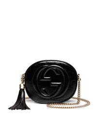 Gucci - Black Soho Mini Textured-leather Shoulder Bag - Lyst