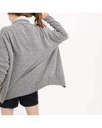 J.Crew | Metallic Petite Ribbed Open Cardigan Sweater | Lyst