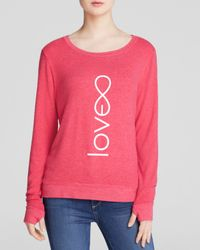 Peace Love World - Pink Top - Love Comfy - Lyst