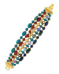 Jose & Maria Barrera - Blue Five-strand Mixed-bead Bracelet - Lyst