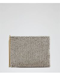 Reiss | Metallic Cindy Beaded Clutch Bag | Lyst